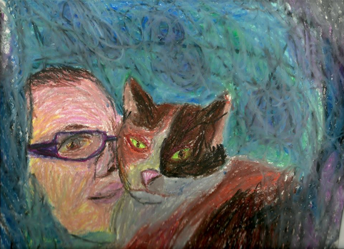 Portrait of Miss R Grey and Her Cat, Autumn by ProletarianGothic