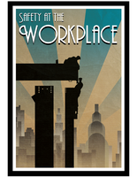 Safety at the workplace Art-deco poster by filipvajbar