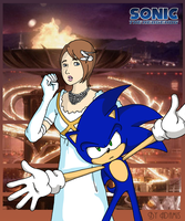 Princess Elise and Sonic by adamis