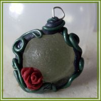 fairytale rose sea glass by wytchwolf