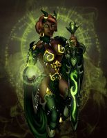 Ebonfel: Green Fire by VenneccaBlind