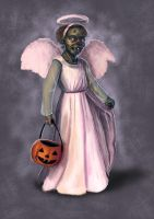 Trick or Treat Zombie by AmandaRamsey