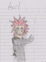 Axel fighting pose by coopercat