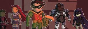 Scribblenauts Teen Titans by 89ravenclaw