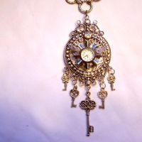 Flying Working Clock Necklace by SteamSociety