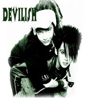 Bill and Tom Kaulitz devilish by esotericminds