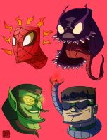 Marvel Heads 4 by CheungKinMen