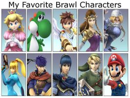 My Favorite Brawl Characters by 5DsPeach