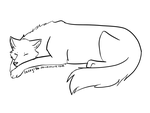Free Sleeping Wolf Lineart by Lacey186