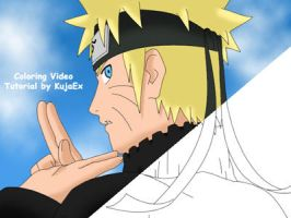 Naruto Coloring Tutorial by KujaEx