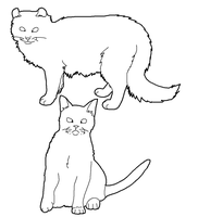 Cat Lineart Set 2 by CrystalKoopa42