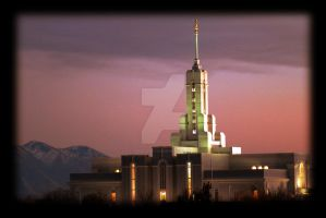 Mt. Timpanogos Temple Dusk LDS by houstonryan
