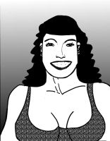 Bettie Page daily sketchbook challenge by exspasticcomics