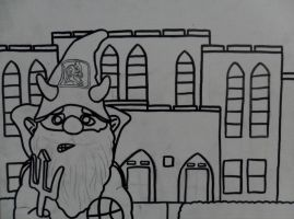 Duke Gnome Cameron Indoor Stadium Outline by sampson1721