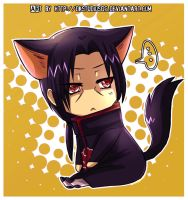 Itachi: Chibi Cat by DKSTUDIOS05