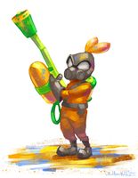 Splatoon Pyro by DavidValdez