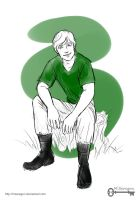 The Hunger Games: Peeta Sketch by mseregon