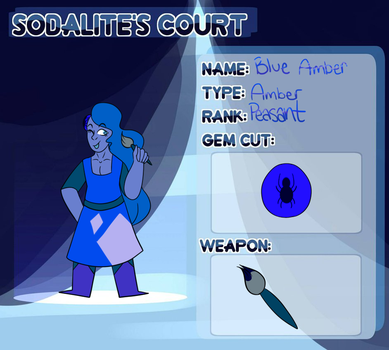 Sodalite's Court Application Blue Amber by weebasaur