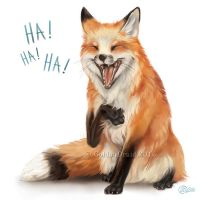 Laughing Fox - SpeedPaint by GoldenDruid