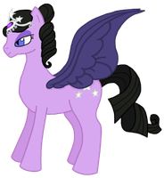 Purple Pegasus Pony by FelidaeSilvestris