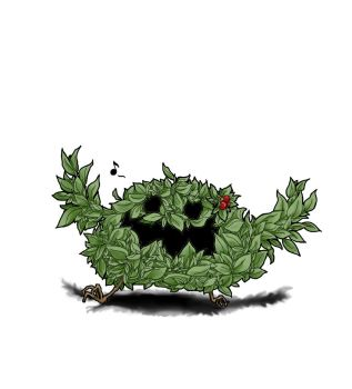 Berry bush monster by Nheow