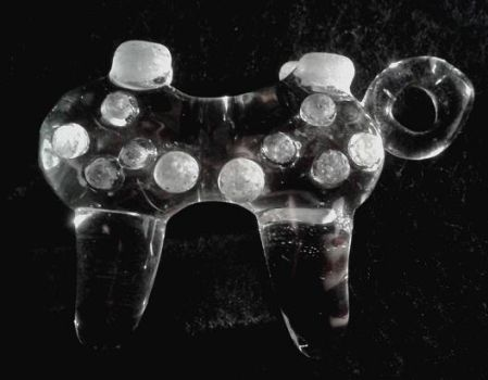 glass ps3 controller by Legendendrache