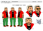 Guy Fieri Model Sheet by dwaynebiddixart