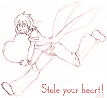 Stole your heart Sketch by MonochromeAgent