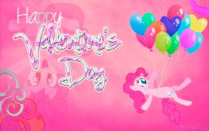Happy Valentine's day! Pinkie Pie wallpaper! by Fluttershy625