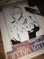 Light Yagami Ink by Orenji--kun