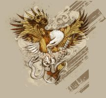 TEE SHIRT EAGLE by BROWN73