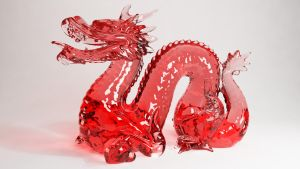 Cinema 4D -- Vray Glass Dragon by SMOKEYoriginalHD
