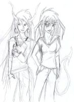Devils and Angles (Lae and Rilee) by shastasnow