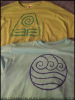 Avatar- Earth and Water Shirts by Nashoba-Hostina