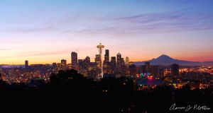 Seattle Cityscape Panoramic V2 by photoboy1002001