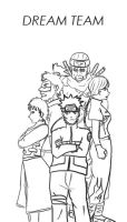 Naruto's Dream Team -SPOILER- by yoski