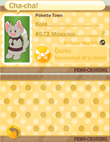 PKMN Crossing: Kola by KeatonCreature