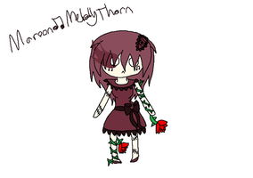 Maroon:musicnote:Melody Thorn by AmyRose507