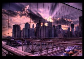 brooklyn bridge hdr by touccy