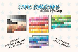 COPIC swatches for PS - Collected by Wendigo by SirWendigo