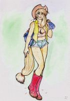 AppleJack coloring. by Baverly