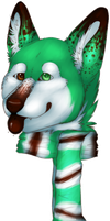 commission: canine bust  -  thin mint by canine-rein