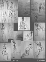 Life Drawings - 5 Mins by Sycra