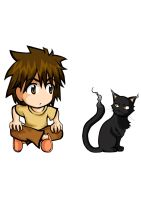 The boy and cute cat by SatyHarvenheit