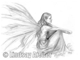Sitting Fairy by LinzArcher