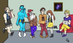 Hipster Watchmen by greenfairy87