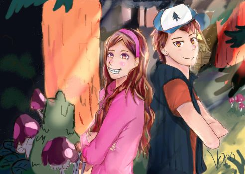 dipper and mabble by strawberry260