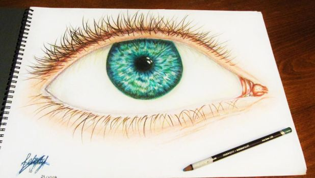 Eye drawing in colour by Art-Essel