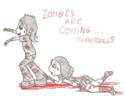 ZOMBIES ARE COMING            Wedny13XJoJo Cartoon by Hippiesforever14