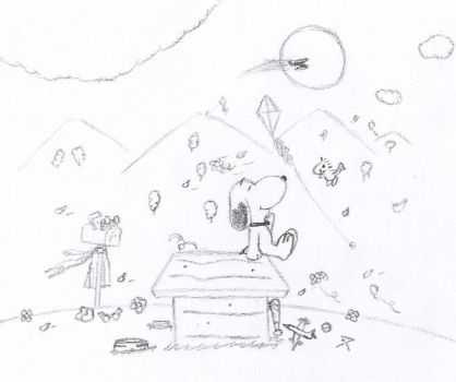 Snoopy - Dream fly so far away by Cid-Gold-Graywoods